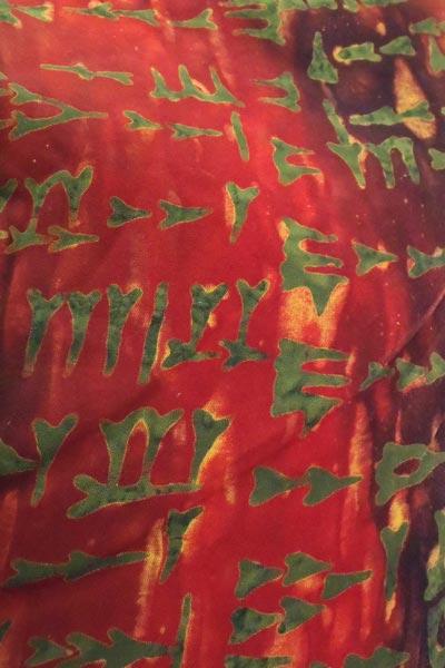 Kilskrift röd